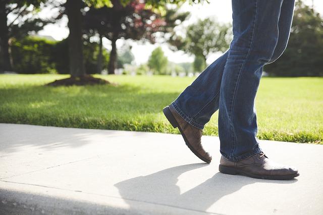 歩いて精神をリラックス